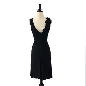 Moschino Cheap & Chic Black Ruched Cocktail Dress